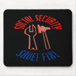 Save Social Security! Personalize Background. Mouse Pad