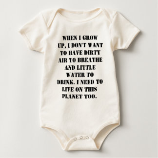 Save Some Earth For Our Children Baby Bodysuit