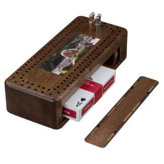 Save Spirit Bears Wood Cribbage Board