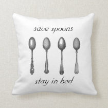 save spoons throw pillow