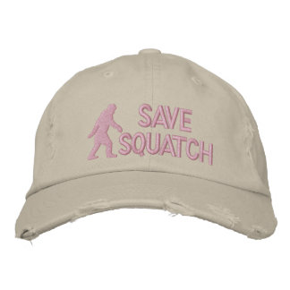 Save squatch * large logo* embroidered baseball hat