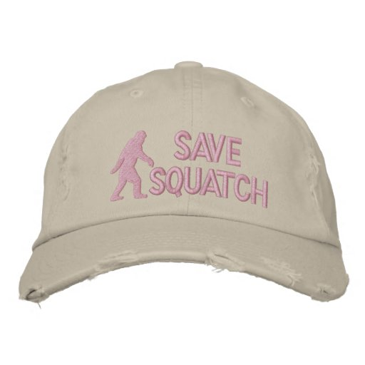 Save squatch * large logo* embroidered baseball hat