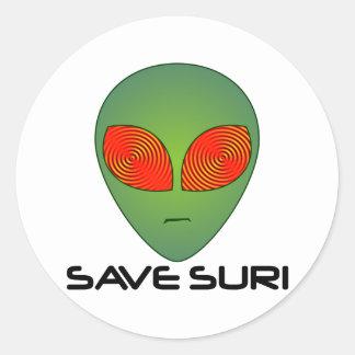 Save Suri Classic Round Sticker