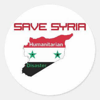 Save syria classic round sticker