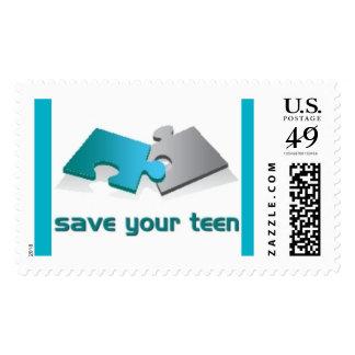 Save Teens Stamp
