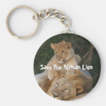 Save The African Lion Keychain