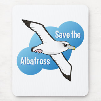 Save the Albatross (flight) Mouse Pad