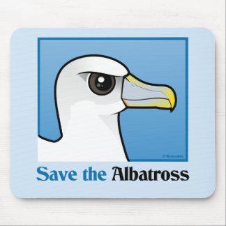 Save the Albatross (portrait) Mouse Pad