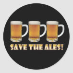 Save The Ales! Classic Round Sticker