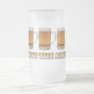 Save The Ales! Frosted Glass Beer Mug