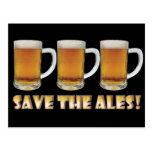 Save The Ales! Postcard