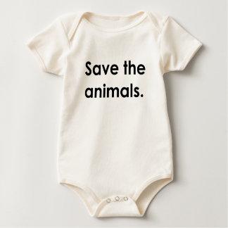 """Save the animals."" baby bodysuit"