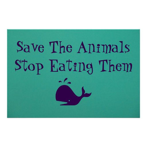 Save The Animals Poster  Zazzle