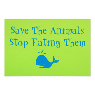 Save The Animals Poster