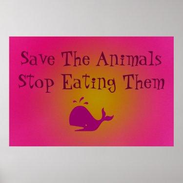 Save The Animals Print