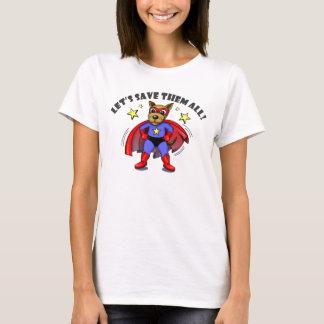 Save the Animals Super Hero Dog cartoon shirts