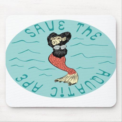 Save the aquatic ape mouse pads