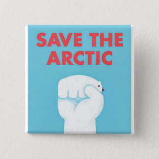 Save the Arctic Pinback Button