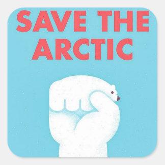Save the Arctic Square Sticker