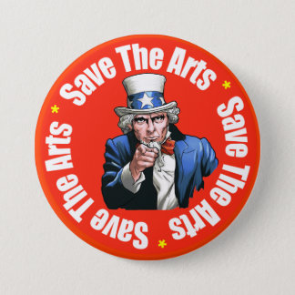 Save The Arts - Button