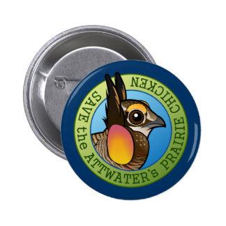 Save the Attwater's Prairie Chicken Button