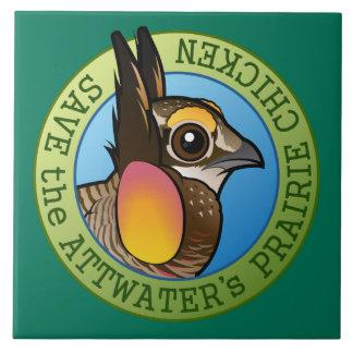Save the Attwater's Prairie Chicken Ceramic Tile