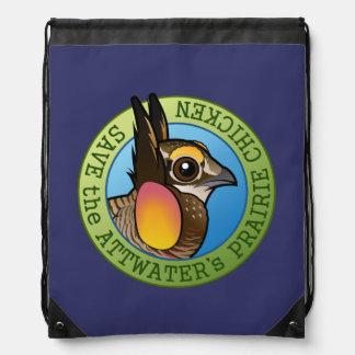Save the Attwater's Prairie Chicken Drawstring Bag