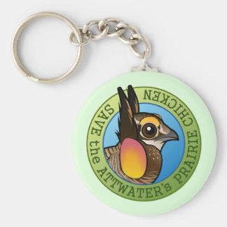 Save the Attwater's Prairie Chicken Keychain