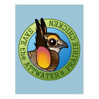 Save the Attwater's Prairie Chicken Postcard