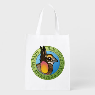 Save the Attwater's Prairie Chicken Reusable Grocery Bag