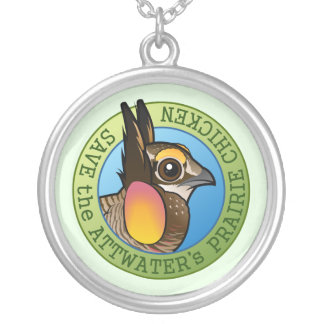 Save the Attwater's Prairie Chicken Silver Plated Necklace