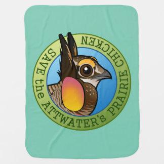 Save the Attwater's Prairie Chicken Baby Blanket