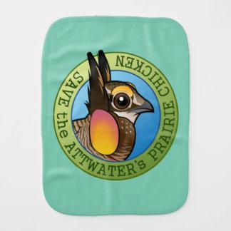 Save the Attwater's Prairie Chicken Baby Burp Cloths