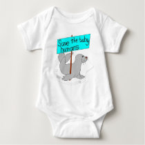 Save The Baby Humans Baby Bodysuit