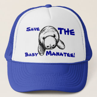 Save The Baby Manatee! Trucker Hat