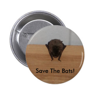 Save The Bats! wildlife Button
