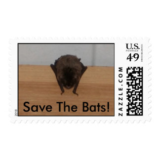 Save The Bats! wildlife postage stamp