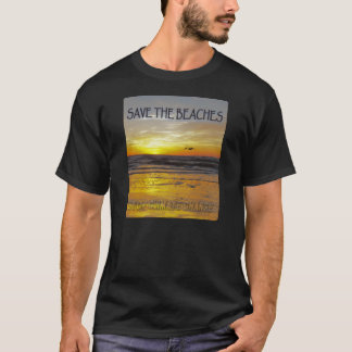 Save the Beaches Sunrise Stop Climate Change T-Shirt