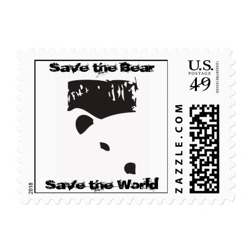 Save the Bear Postage Stamps
