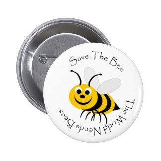 Save The Bee Design Button