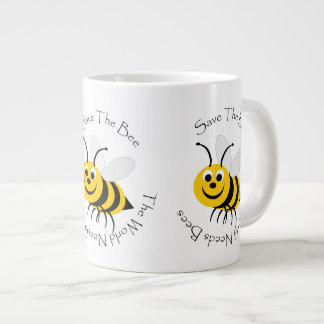Save The Bee Design Large Coffee Mug