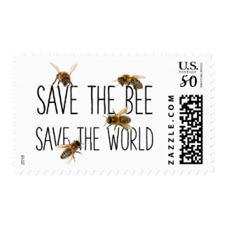 Save the Bee! Save the World! Live Design Postage