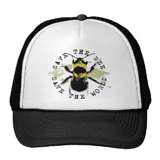 Save the Bee! Save the World! Medallion Collection Trucker Hat