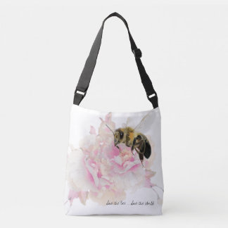 Save the Bee! Save the World! Pretty Bee Crossbody Bag