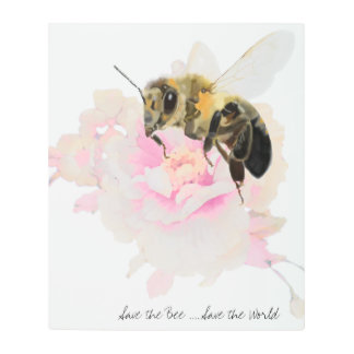 Save the Bee! Save the World! Pretty Bee Metal Print
