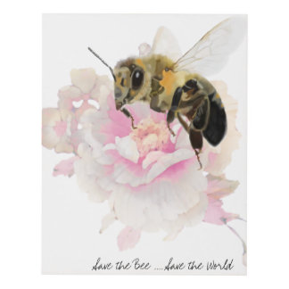 Save the Bee! Save the World! Pretty Bee Panel Wall Art
