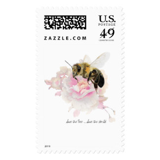 Save the Bee! Save the World! Pretty Bee Postage
