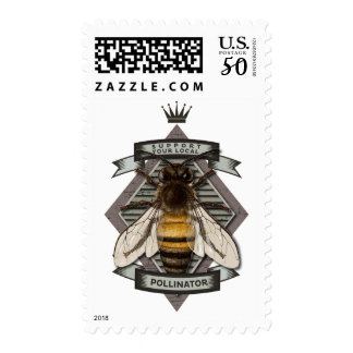Save the Bee! : Support your Local Pollinator Postage