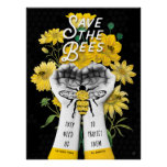 SAVE THE BEES! - 18x24 POSTER