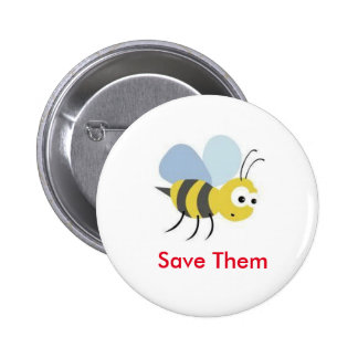 Save The Bees 1 Pinback Button